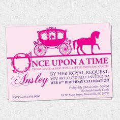 Princess Birthday Party Invitation Printable Girl by OhCreativeOne