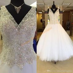 Princess Wedding Dresses Cheap 2017 With Major Beading Bodice And V Neck Real Image Sequins Tulle Ballgown Robe De Mariage Sleeveless Plus Size Ball Gowns Wedding Dresses Pnina Ball Gown Wedding Dresses From Uniquebridalboutique, $179.4| Dhgate.Com