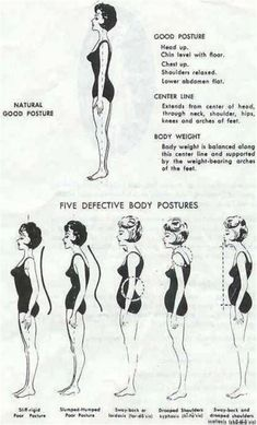 Good posture does so much for how we look in clothes, how our body feels and for our confidence. Ettiquette For A Lady, Lady Rules, Illustrations Vintage, Postural, Etiquette And Manners, Bad Posture, Posture Stretches, Good Manners, Finishing School