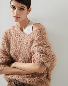Knitting Stitches, Knitting Yarn, Lace Sweater, Men Sweater, Pullover, Silhouette, Brunello Cucinelli, Knit Patterns, Knitwear