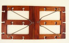 Wine Enthusiast Wooden Hanging Wine Stemware Glass Rack for Home Bar   #WineEnthusiast
