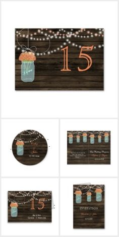 Coral Floral Barnwood mason jar Collection