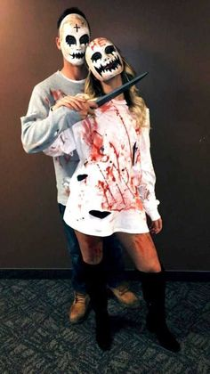 Purge Outfit Ideas 63 best halloween couple costumes from cute to scary 2019 Purge Outfit. Here is Purge Outfit Ideas for you. Purge Outfit halloween costume ideas that are guaranteed to impress. Purge Outfit pin on outfit insp. Couples Halloween Costumes Creative, Scary Couples Halloween Costumes, Cute Couples Costumes, Nurse Halloween Costume, Couple Halloween Costumes For Adults, Halloween Outfits, Adult Costumes, Funny Couples, Halloween 2017