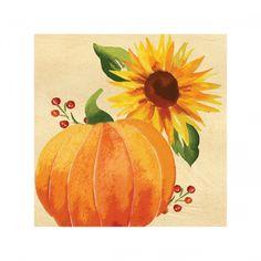 Harvest Abundance Beverage Napkin | Wally's Party Factory #thanksgiving #fall #napkins