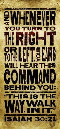Isaiah 30:21- VBS Bible Verse