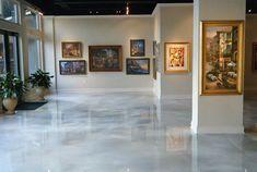 Metallic Epoxy Floor Floor Art, Industrial Paintings, Industrial Flooring, White Floors, Concrete Floors, Epoxy Floor, Flooring, Epoxy Resin Flooring, Metal Floor