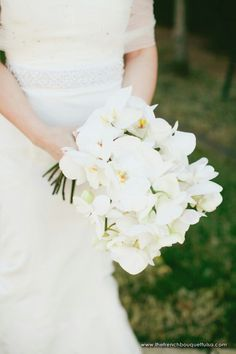Cascading Bouquet Of White Phalaenopsis Orchids××××