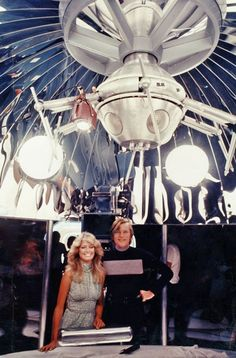 Farrah Fawcett & Michael York in 'Logan's Run', 1976 - The film was nominated for two Academy Awards & It won a Special Academy Award for its visual effects (shared by L. B. Abbott, Glen Robinson and Matthew Yuricich), effects which included the use of laser holography for the first time in a feature film, and won six Saturn Awards including Best Science Fiction Film.