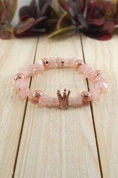 Multi Gemstone Bracelet | Stretch Rose Quartz Bracelet | Natural Gemstone Bracelet | Elastic Bracelet by YouDontNeedAReason on Etsy