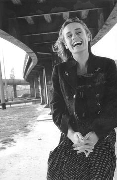 Robert Doisneau  Sandrine Bonnaire. Great actress, intelligent woman...not sure about the photographer