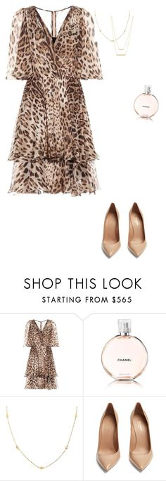 """Untitled #2551"" by nujixo ❤ liked on Polyvore featuring Dolce&Gabbana, Chanel, Lana, Yves Saint Laurent and Jennifer Zeuner"