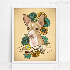 This listing is for a custom stylized pet portrait illustration and high quality artprint. 1) Choose your print size 2) Place your order here 3) Send the fol
