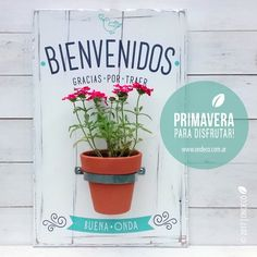 Vintage pot holder with phrase – welcome, thank you for bringing good vibrations rnrnSource by Best Vibrators, Nature Crafts, Ideas Para, Wood Signs, Pot Holders, Decoupage, Diy And Crafts, Cactus, Home And Family