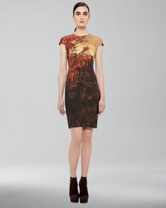 Forest-Print Dress by Akris at Neiman Marcus.