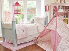 White and Pink Girl Bedroom Decorative Bedroom
