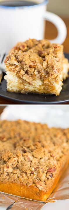 This recipe for Maple Double Crumb Coffee Cake is delicious for breakfast or dessert! If you love maple & coffee cake with a lot of crumble, this is for you!