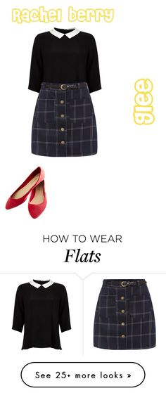 """""""Rachel berry glee look"""" by desiv2001 on Polyvore featuring Lipsy and Wet Seal"""
