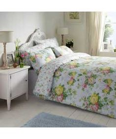 Fall Bedding from Vantona Small Room Interior, Room Interior Design, Duck Egg Duvet Cover, Bed Sets For Sale, Home Trends, Bed Styling, Linen Bedding, Bed Linens, Home Decor Bedroom