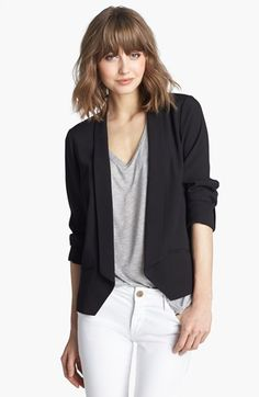 Trouvé Tuxedo Jacket available at #Nordstrom Love this look -- and the hair too!