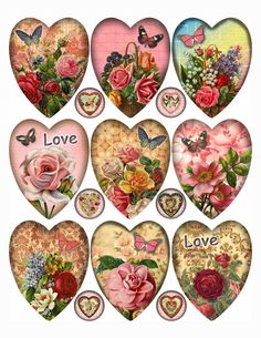 Papel Vintage, Vintage Crafts, Vintage Tags, Vintage Valentines, Valentine Crafts, Kirigami, Etiquette Vintage, Vintage Scrapbook, Scrapbook Embellishments