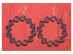 Circular DNA Plasmid earrings by baltimore on Shapeways