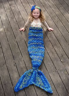 Ravelry: Set of 4 Mermaid patterns - Mermaid Tail, Headband, Bikini top, and Fishing Net Blanket pattern by Crochet by Jennifer