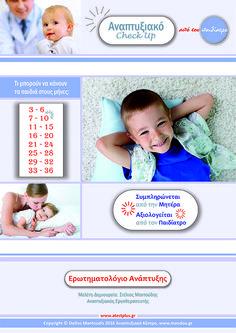 36f5ac8a0f5 Τα ανιχνευτικά ερωτηματολόγια ανάπτυξης συμπληρώνονται σε ηλικίες κλειδιά  για τους γονείς και αξιολογούνται από τον παιδίατρο. Για μωρά 3 έως 6, 7 έως  9, ...