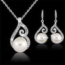 Unique Jewelry - New Women Wedding Bridal Party Crystal Rhinestone Necklace Earring Jewelry Sets