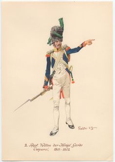 Westphalia; King's Guard, 2nd Regt of Velites, Corporal 1811-12.