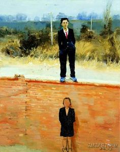 liu xiaodong artist | 墙里墙外-Liu Xiaodong-Oil paintingart picture gallery