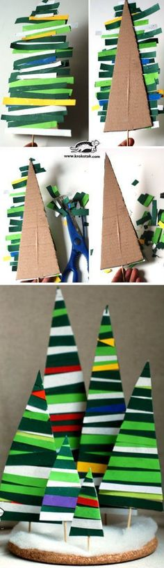 Paper Strips Fir Tre