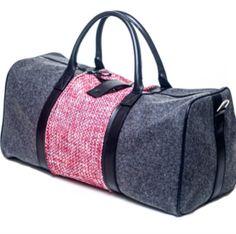 Sneak peek of our #FW15 Melton Wool interchangeable duffle!  #woolbag #prefall #miscere #travelstyle #winterweekender