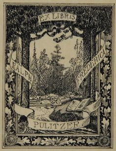 Pulitzer Book Plate by CCNY Libraries, via Flickr