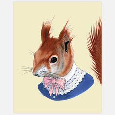 Red Squirrel Print 11x14