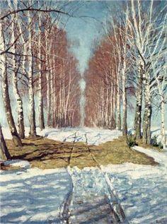 Avenue of Birch Trees - Igor Grabar
