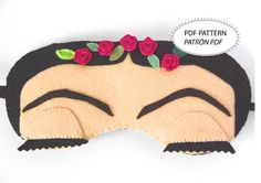 PDF Pattern Personal Use NOT a finished product    Make sleep masks by your own! The PDF innclude 11 pages:    - Pattern - Patrón - Color Options -