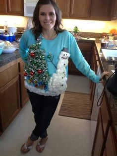 Ugly Christmas Sweater Ideas, Homemade Ugly Christmas Sweater Ideas, Ideas for Ugly Christmas Sweater, Handmade Ugly Christmas Sweater Ideas Homemade Ugly Christmas Sweater, Ugly Christmas Shirts, Diy Ugly Christmas Sweater, Christmas Jumpers, Ugly Sweater, Xmas Sweaters, Xmas Shirts, Holiday Sweater, Tacky Christmas Party
