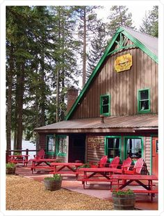 Adirondack chairs & picnic tables...