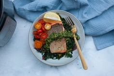 How to sous vide fish in an Instant Pot plus a recipe for sous vide trout served with a delicious Mint Pisachio gremolata #instantpotrecipes Instant Pot Sous Vide, Create A Recipe, Rainbow Trout, What's Cooking, What To Cook, Meals For The Week, Pistachio, A Food, Food Processor Recipes