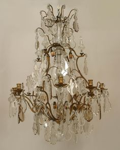 Antique French Four Light Girandoles (Table Chandeliers) | Deco ...