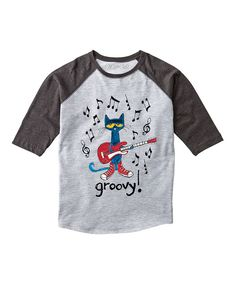 daeb17055be22 Look at this Pete the Cat Groovy Raglan Tee - Toddler & Kids on #