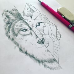 But feminine wolf instead of geometric