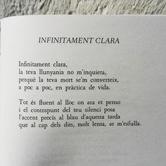 ...és en la mort on aprenem de viure...  A plenitud, Miquel Martí i Pol  (i aquest) Poetry Quotes, Inspire Me, Inspirational Quotes, Valencia, Free, Pretty Quotes, Words, Deep Quotes, Book Quotes