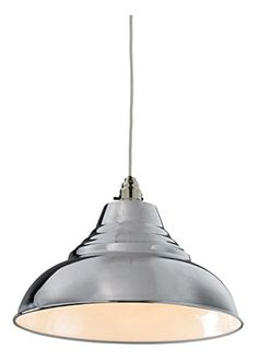Vintage Style CHROME Pressed Metal Ceiling Pendant Lamp Shade 30.5cm Diameter Lighting and Interiors http://www.amazon.co.uk/dp/B017KLSKXK/ref=cm_sw_r_pi_dp_sM88wb00NT471