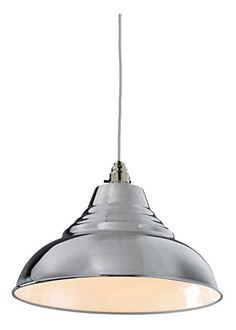 Vintage Style CHROME Pressed Metal Ceiling Pendant Lamp Shade 30.5cm Diameter Lighting and Interiors http://www.amazon.co.uk/dp/B017KLSKXK/ref=cm_sw_r_pi_dp_sM88wb00NT471