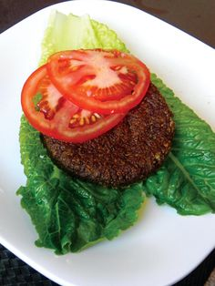 Mushroom Nut Burger from Practically Raw by Amber Shea Crawley
