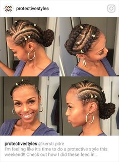 20 Gorgeous Goddess Braids Styles To Go Gaga Over Goddess Braid Styles, Goddess Braids, Protective Style Braids, Protective Hairstyles, Protective Styles, Box Braids Hairstyles, Girl Hairstyles, Black Hairstyles, Hair Updo