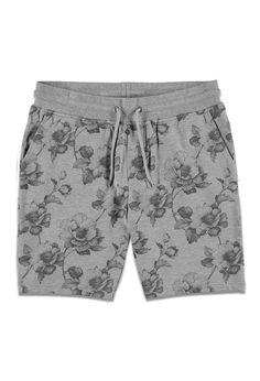 Heathered Graphite Floral Sweatshorts   Forever 21 - Personal Stylist - Pinup and Vintage Workout Gear