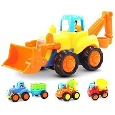 Friction Powered Cars Push and Go Car Construction Vehicles Toys Set of 4 Tractor,Bulldozer,Cement Mixer Truck,Dumper Push Back Cartoon Play for 1 2 3 Years Old Boys Toddlers Kids Gift. For price & product info go to: https://all4babies.co.business/friction-powered-cars-push-and-go-car-construction-vehicles-toys-set-of-4-tractorbulldozercement-mixer-truckdumper-push-back-cartoon-play-for-1-2-3-years-old-boys-toddlers-kids-gift/