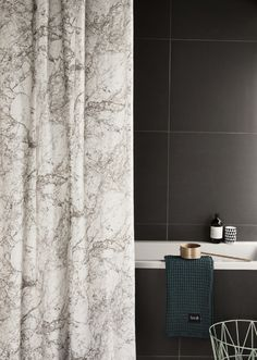 new: marble shower curtain